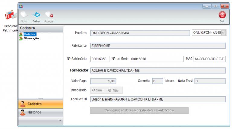 4. Movimentação de equipamento 768x427 Manual de Integração IClass FS e Integrator