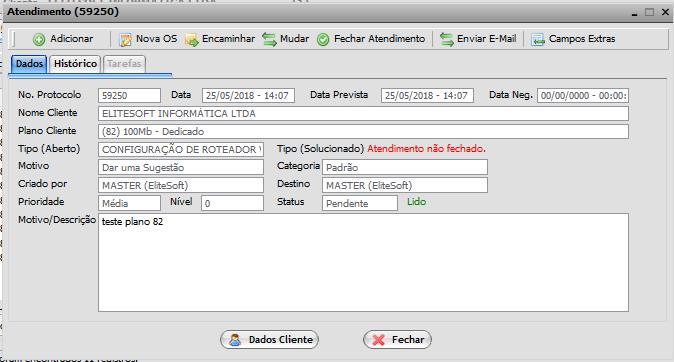 5. Criação de OS 2 Manual de Integração IClass FS e Integrator